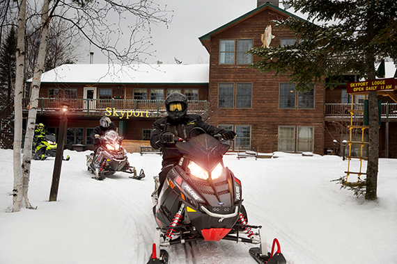 Devil Track Snowmobile Drag Races