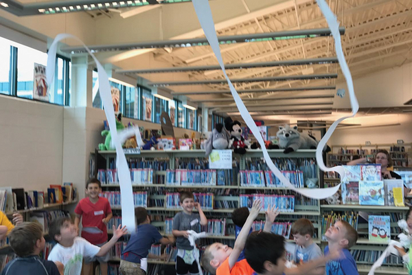 Hampton Library children's Captain Underpants reading party