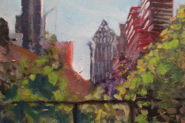 'Center City From the Schuylkill Trail' by Ed Bronstein.