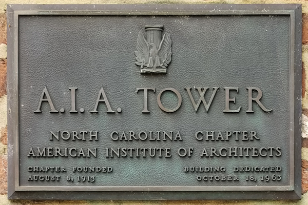 AIA Tower plaque