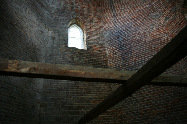 Window inside the tower.