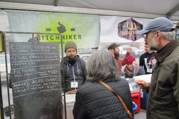 HitchHiker Brewing Company had samples of their Cosmic Void, Usual Chaos and more.