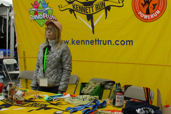 A booth promoted the upcoming Kennett Run.