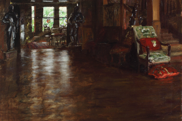 William Merritt Chase, 'Interior, Oak Manor,' 1899, oil on canvas, 27x27 in., Westmoreland Museum of American Art. Bequest of Richard M. Scaife, 2015.