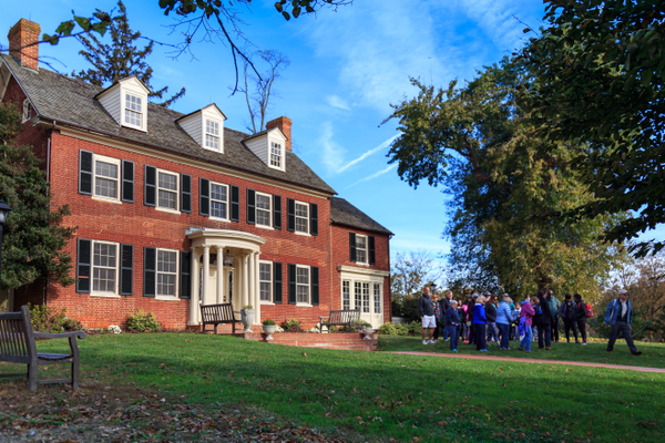 The 1809 mansion at Woodlawn Manor Cultural Park is open for tours.