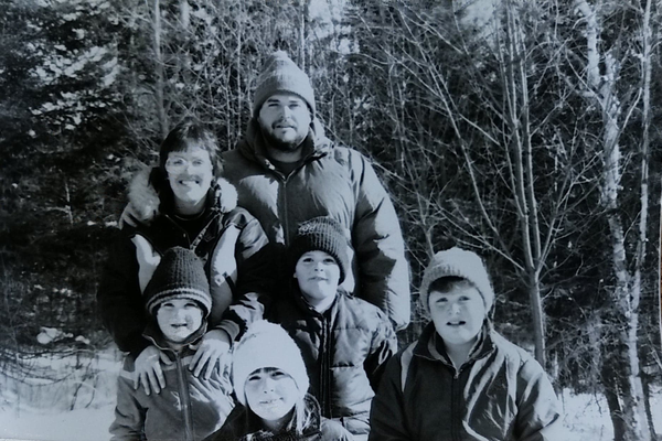 The Patten family in 1982.