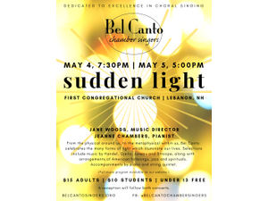 Spring Concert Sudden Light  - start May 04 2019 0730PM