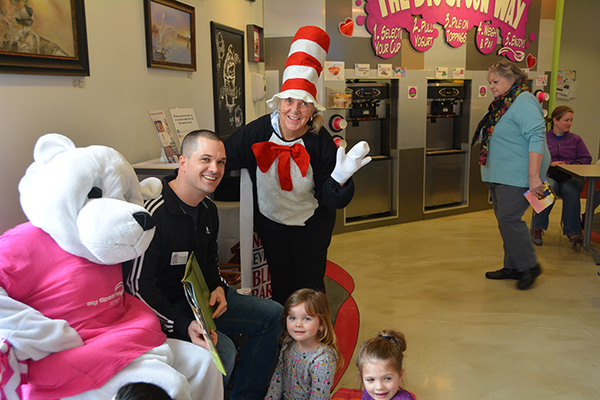 Berry, Matt Bridge, Cat in the Hat (Marsha Snodgrass), and Elly