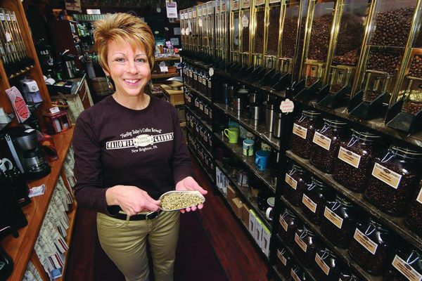 Kathy Chabala, owner of Hallowed Grounds Coffee Roasterie