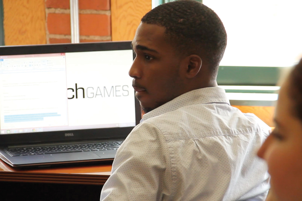 Learn & Earn interns helped Simcoach Games develop and test video games that teach young people professional skills needed to succeed in the workplace.