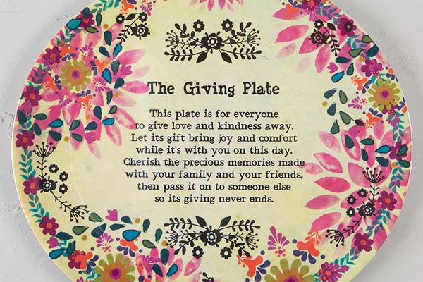 "Natural Life ""Giving"" Plate"