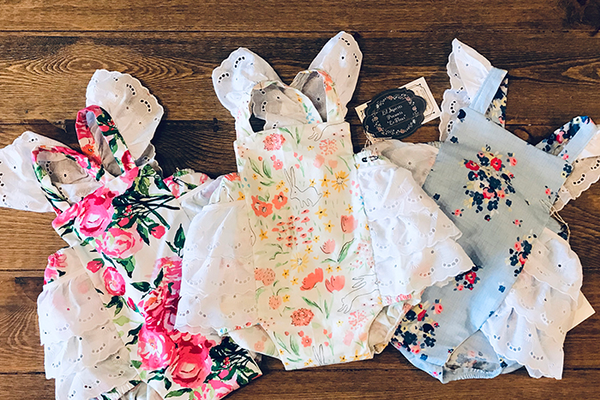 Lil Squirts Handmade Baby RomperS