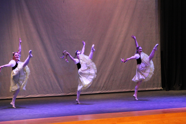 The Westminster College Dance Department was the special guest of the evening. (Photo by Hank Kesler)