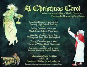 Medium christmas carol poster