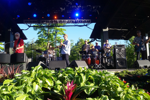 "Homonyms (same sound/different meaning) and homographs (same sound/different meaning) aplenty as iconic band Little Feat kept the crowd on its feet at Red Butte Ampitheatre—""A great place to play!"" (Jennifer J. Johnson/City Journals)"