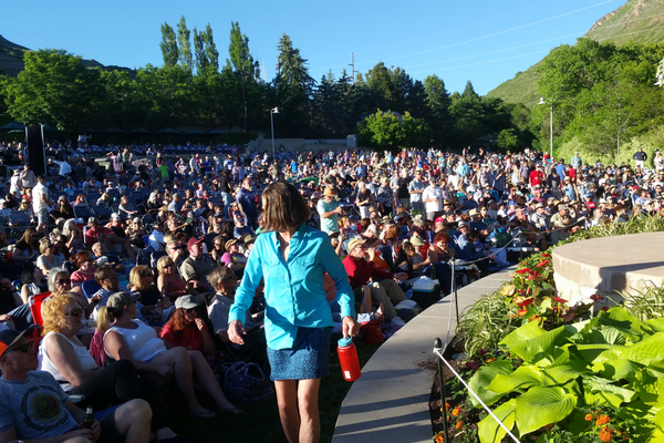 "Little Feat frontman and band co-founder Bill Payne credited the Red Butte Ampitheatre venue's being ""a great place to play!"" (Jennifer J. Johnson/City Journals)"