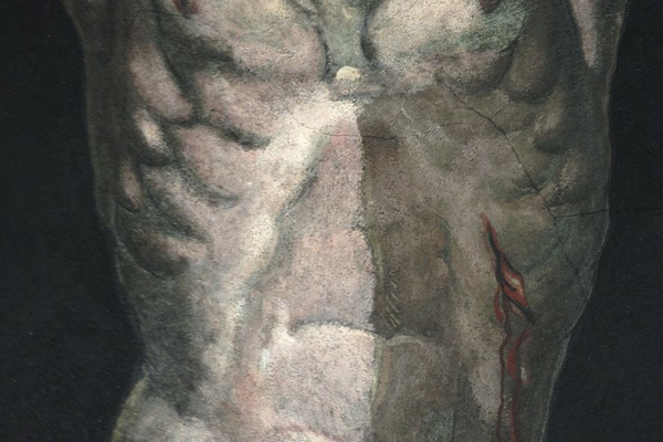 Detail of cleaning the Crucifixion (1937)