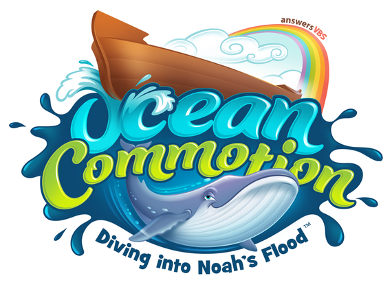 Ocean commotion graphic logo