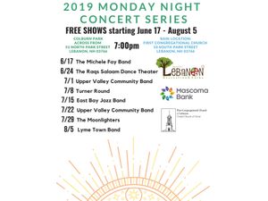 Monday Night Concert Series - start Aug 05 2019 0700PM