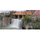 The city of Rochester was built around four waterfalls along the Genesee River which were used to power the flour mills in the early days of the city