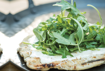 Baby Arugula Ricotta Pizza Recipe