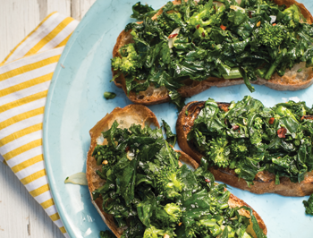 Broccoli Rabe Bruschetta Recipe