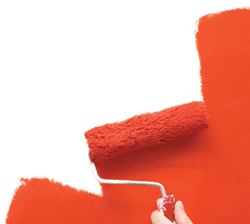 Healing Color Red Paint Roller