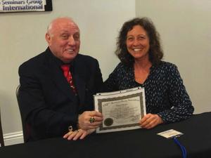 Elizabeth Pasquale with Richard Bandler