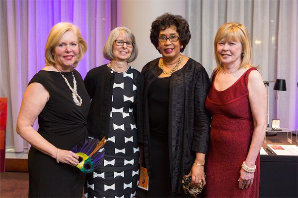 Veronica Tovey, Barbara Goyette, Cheryl Miller, and Arts Council Executive Director April Nyman