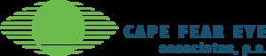 Medium green eye logo blue name