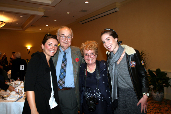 Alex Long, William Long, DBE Member Glynis Long, and Hilary Keil