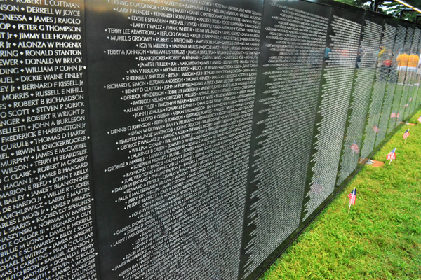 A portion of The Wall That Heals