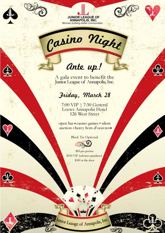 Junior League Of Annapolis Casino Night
