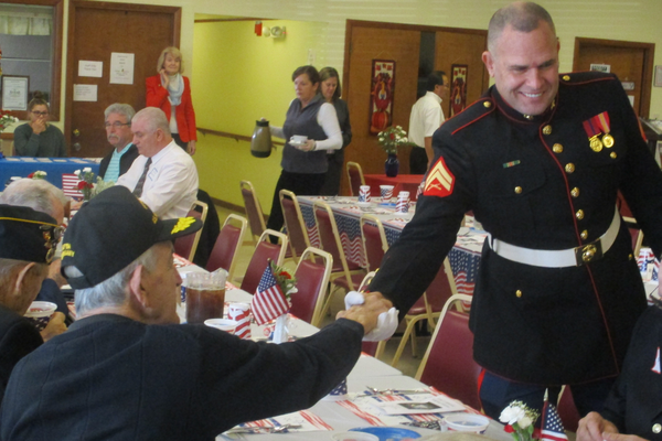 Several generations of veterans were part of the luncheon tribute.