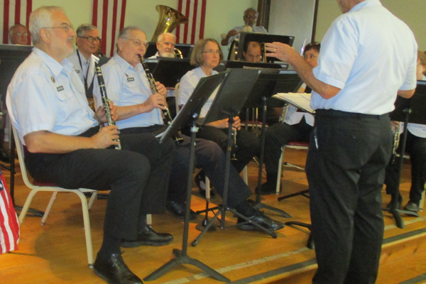 The Lukens Band plays patriotic music during the annual luncheon.