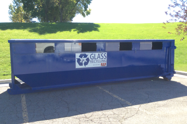Glass for recycling can only be left in specified containers at Germania and Murray Parks. (Photo Courtesy Murray City)