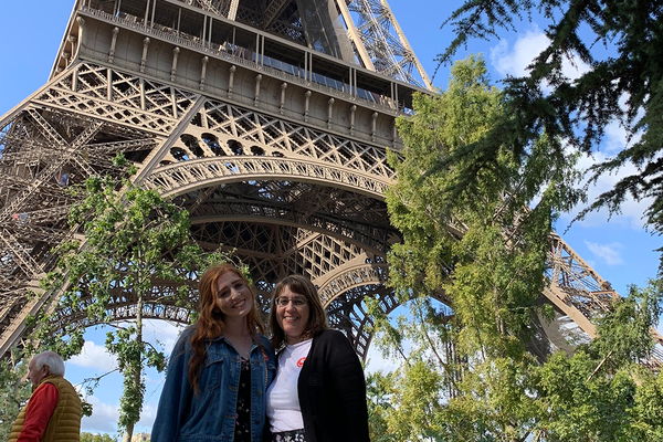 Natalie and Hilary Daninhirsch in Paris before Natalie's health scare.