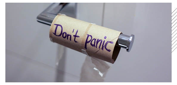 empty toilet paper roll, don't panic