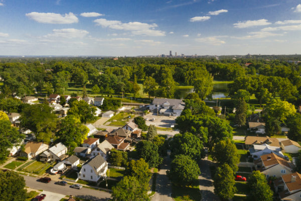 Minne Lusa neighborhood from above