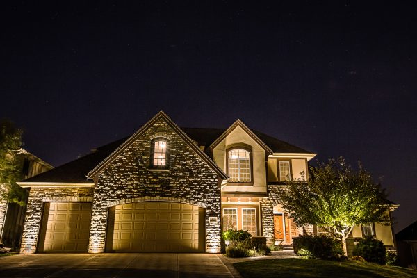 Home Exterior Lighting in Omaha, provided by Midwest Lightscaping