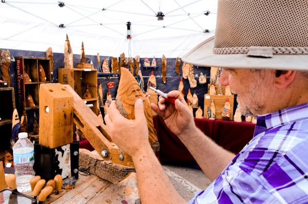 artist at Annual Omaha Summer Arts Festival