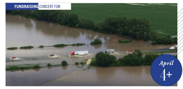 Nebraska flood scene from above