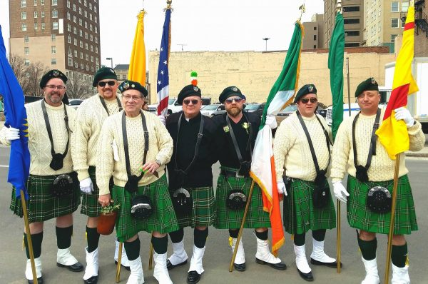 seven men, St. Patrick's Day parade