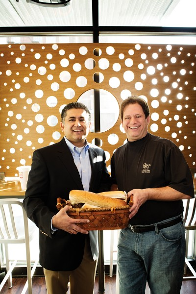 From left: Nikhil Mehta, co-owner and president of Little King, with Bob Wertheim, Little King's COO.