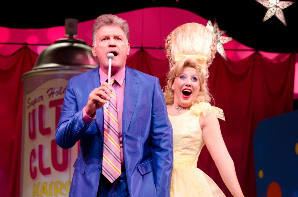Stein as Amber Von Tussle in the Omaha Community Playhouse's production of Hairspray.
