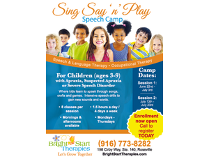 Sing Say n Play Speech Camp