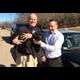 Bellingham School Resource Officer Len Gosselin with his puppy Hawk and School Superintendent Peter Marano