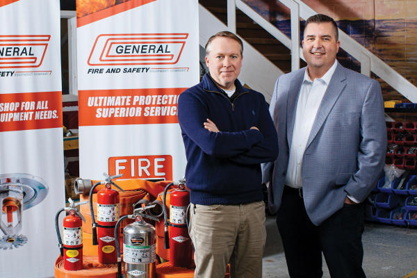 Jason McDonald and Heath Koontz of General Fire and Safety
