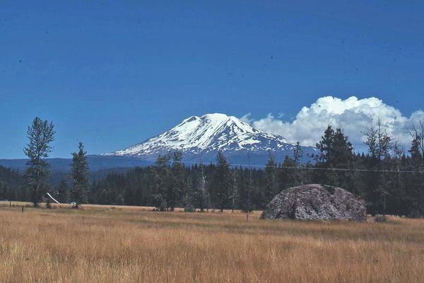 Snow-capped Mt. Adams overlooks the Trout Lake Valley