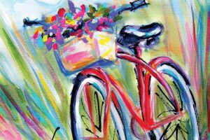 Judy Rogan bicycle artwork